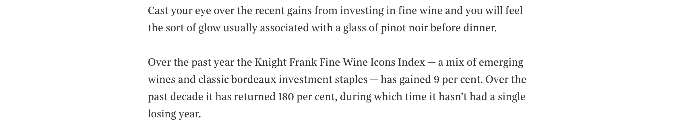 The Times - Wine Owners - Fine wine investment