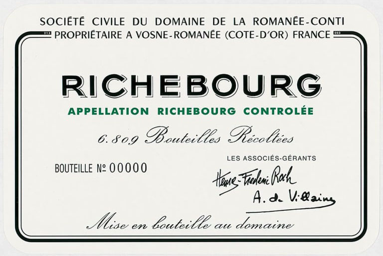 Domaine de la Romanee-Conti Richebourg Grand Cru