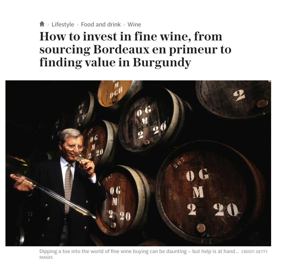 The Telegraph Victoria Moore - How to invest in fine wine - Wine Owners