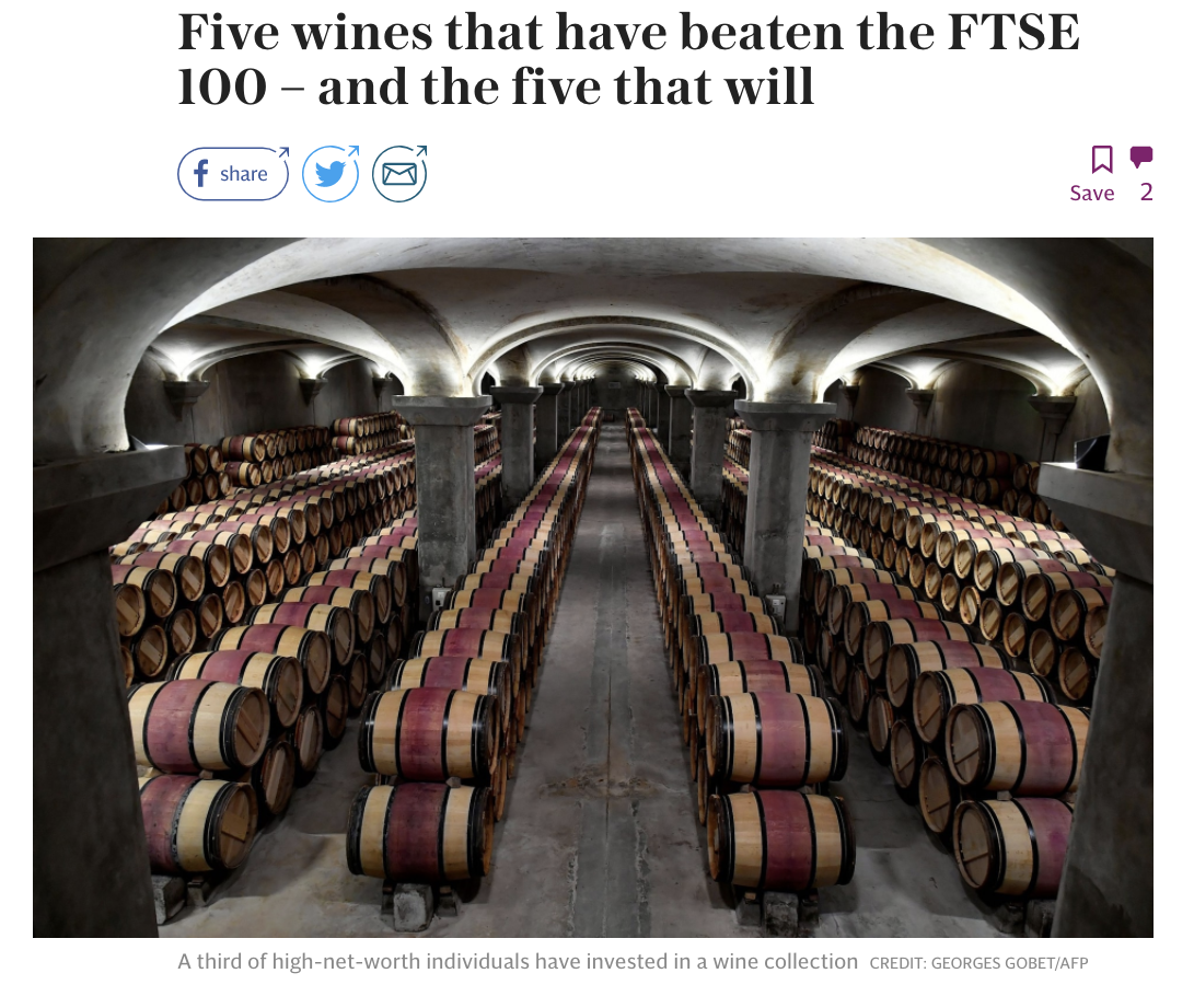 The Telegraph Victoria Moore - Wine Vs. FTSE 100