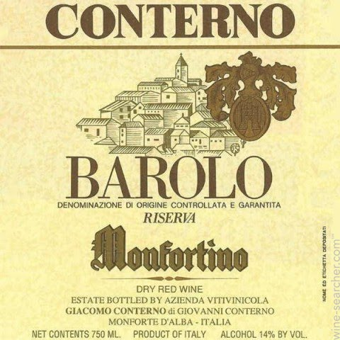 Wine Owners - Vintages in the shadows Barolo Riserva Monfortino Conterno